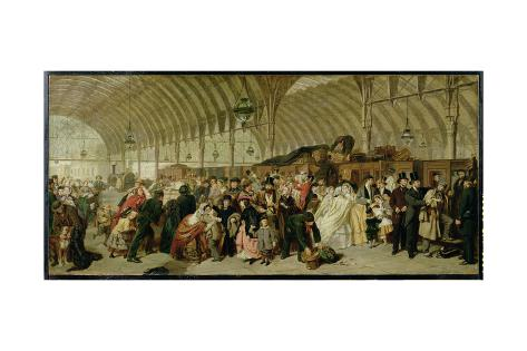 The Railway Station, 1863 Lámina giclée