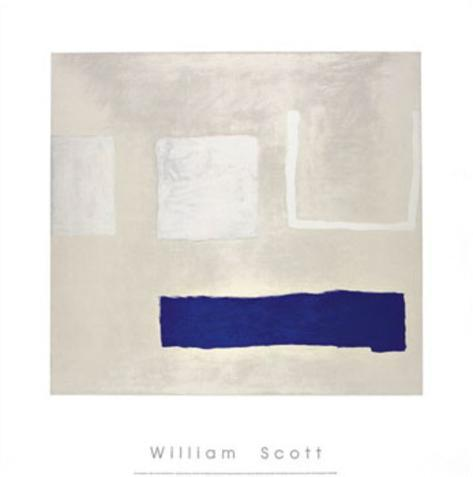 White and Blue, c.1960 Serigraph