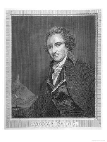 Thomas Paine Radical Political Writer and Freethinker Giclee Print