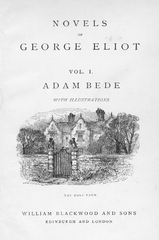 Title Page of Adam Bede by George Eliot, C1885 Giclee Print