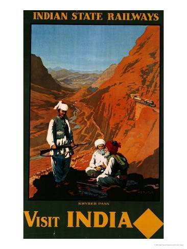 Visit India, Indian State Railways, circa 1930 Giclee Print