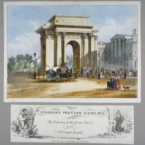 Hyde Park Corner, London, C1835 Giclee Print