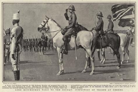Lord Kitchener's Visit to the Soudan, Inspection of Troops at Berber Giclee Print