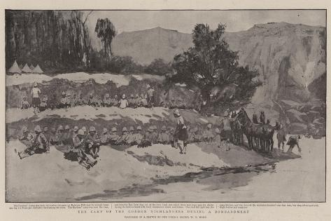 The Camp of the Gordon Highlanders During a Bombardment Giclee Print