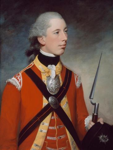 Captain Thomas Hewitt, 10th Regiment of Foot, 1781 Stampa giclée