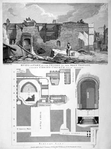 Priory of Holy Trinity, Duke's Place, City of London, 1825 Giclee Print