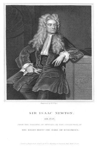 Isaac Newton, English Mathematician and Physicist, 1836 Giclee Print