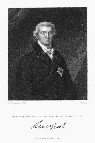 Robert Banks Jenkinson, Earl of Liverpool, British Statesman, 1830 Giclee Print