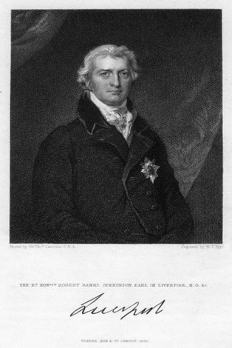 Robert Jenkinson, 2nd Earl of Liverpool, British Politician and Prime Minister Giclee Print