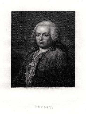 Turgot, French Statesman and Economist, 19th Century Giclee Print