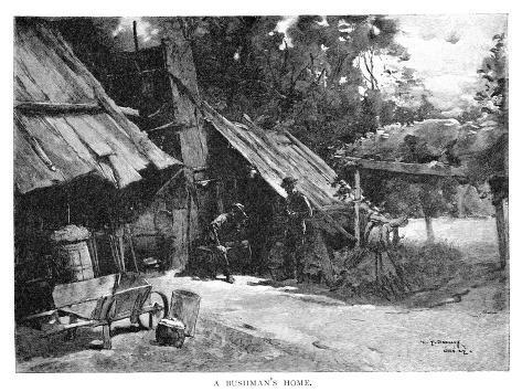 A Bushman's Home, Australia, 1886 Giclee Print