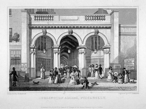 Burlington Arcade, Westminster, London, 1828 Giclee Print