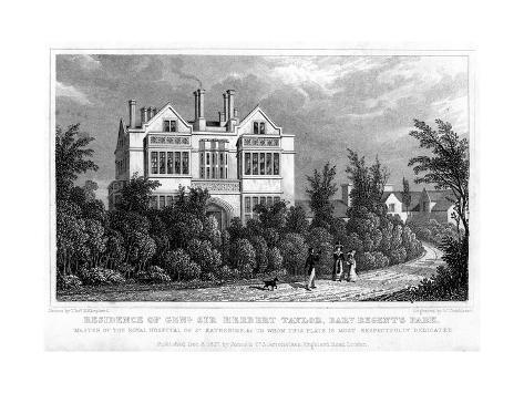 Residence of General Sir Herbert Taylor, Baronet, Regent's Park, London, 1827 Giclee Print