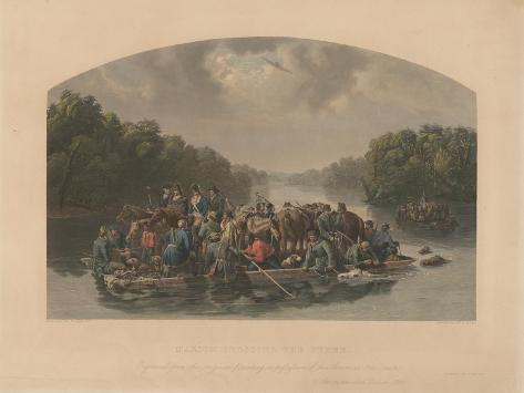 Marion Crossing the Pedee, 1852 Giclee Print