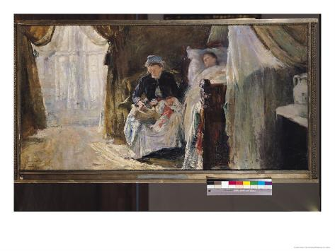 The Invalid and the Birth, 1887 Giclee Print