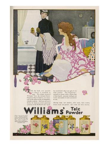 Williams' Talc Powder Lámina giclée