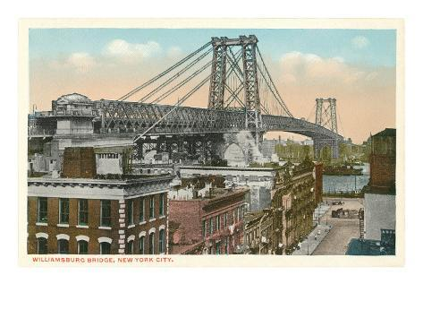 Williamsburg Bridge, New York City Art Print