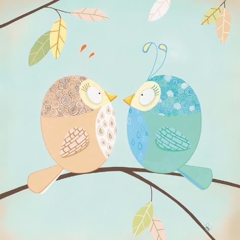 Two Little Birdies Art Print