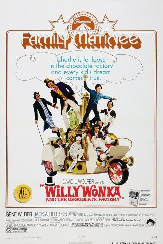 Willy Wonka and the Chocolate Factory, 1971 Art Print
