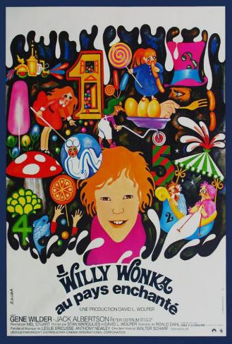 Willy Wonka and the Chocolate Factory - French Style Poster