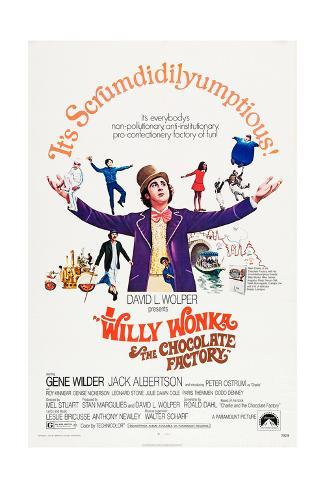 Willy Wonka and the Chocolate Factory Art Print