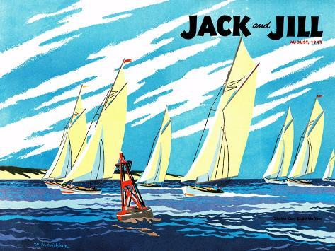 Regatta - Jack and Jill, August 1949 Giclee Print