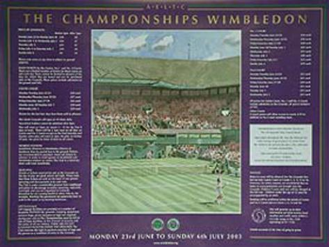 Wimbledon Movie Poster Poster originale