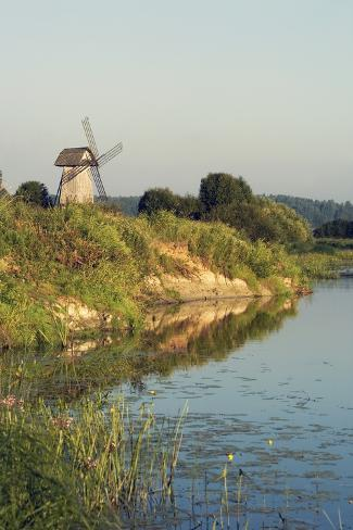 Windmill on Banks of Sorot River Giclee Print