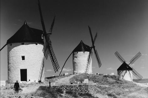Windmills in Consuegra, Spain Stretched Canvas Print