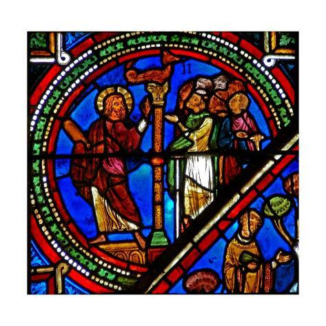 Window W15 Depicting Aaron and the Brazen Serpent Stretched Canvas Print