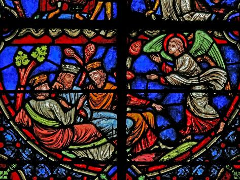 Window W3 Depicting the Magi are Warned in a Dream Lámina giclée