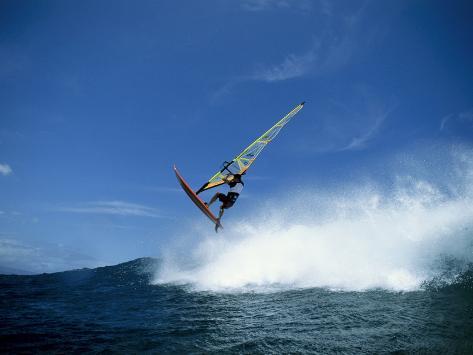 Windsurfer in Midair Photographic Print