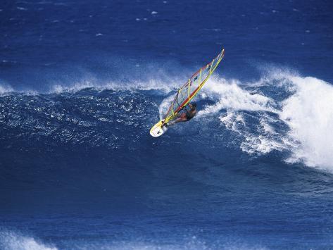 Windsurfer Surfing Photographic Print