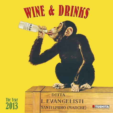 Wine & Drinks - 2013 Wall Calendar Calendars