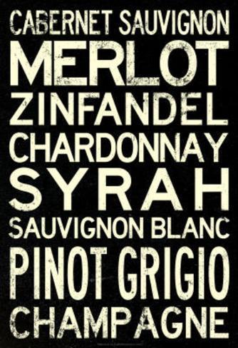 Wine Grape Types Art Print Poster Masterprint