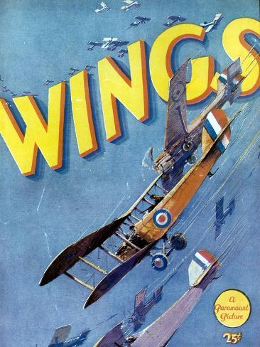 Wings, 1927, Directed by William A. Wellman ジクレープリント