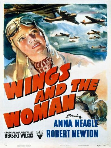 Wings and the Woman Movie Poster Stampa giclée