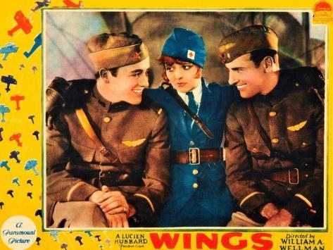 WINGS, Buddy Rogers, Clara Bow, Richard Arlen, 1927 Impressão artística