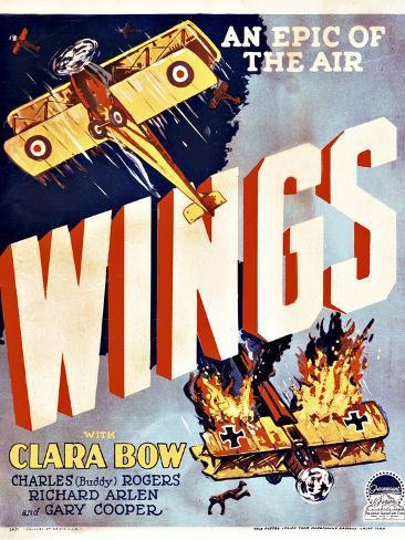 Wings Movie Poster Gicléetryck