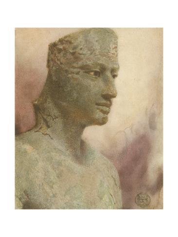 Pepi I, Pharaoh Statue Giclee Print