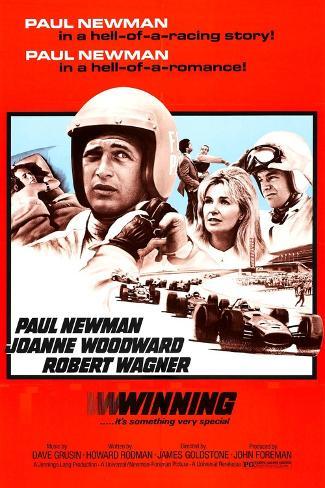 Winning, Paul Newman, Joanne Woodward, Robert Wagner, 1969 Premium Giclee Print