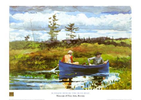 Blue Boat Art Print