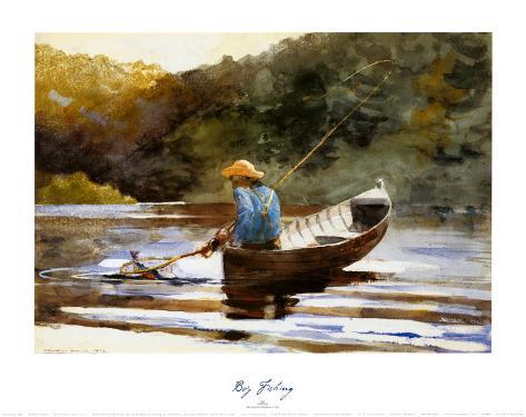 Boy Fishing, 1892 Art Print