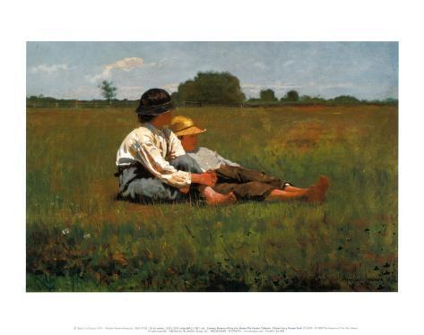 Boys in a Pasture, 1874 Art Print