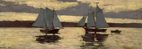 Gloucester, Mackerel Fleet at Sunset, c.1884 Art Print