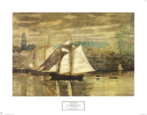 Gloucester Schooners and Sloop Art Print