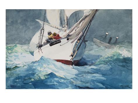 Reefing Sails Around Diamond Shoals, Cape Hatteras Giclee Print