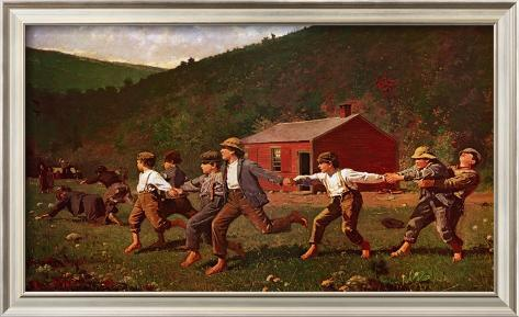 analysis of the painting snap the whip by winslow homer Winslow homer, snap the whip (1872) crack the whip is a simple outdoor children's game that involves physical coordination , and is usually played in small groups, either on grass or ice, usually grass.