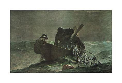 The Herring Net, 1885 Art Print