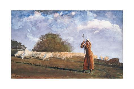 The Young Shepherdess, 1878 Lámina giclée